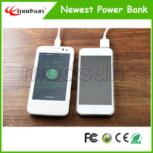 mobile phone shape 6600mah power bank mobile phone battery charger with micro cable and retail package