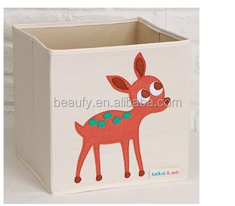 Storage basket with 3D felt pattern bear sute 3D deisgn for fold baskets