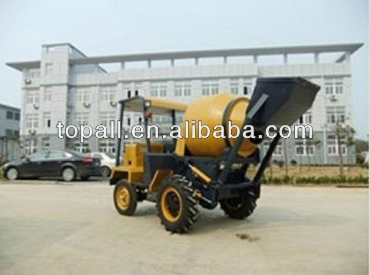 China Famous Topmac Brand mobile self-loading mixer