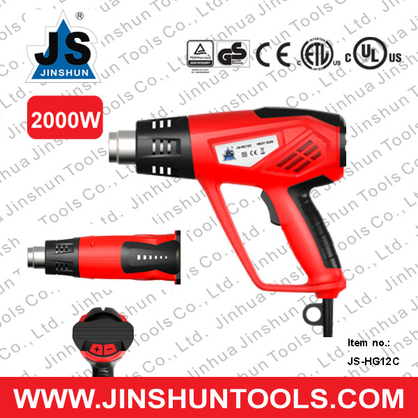 JS 2014 NEW Dual Temperature Electric Heat Gun High Temperature Hand Held Hot Air Blower 2000W JS-HG12C