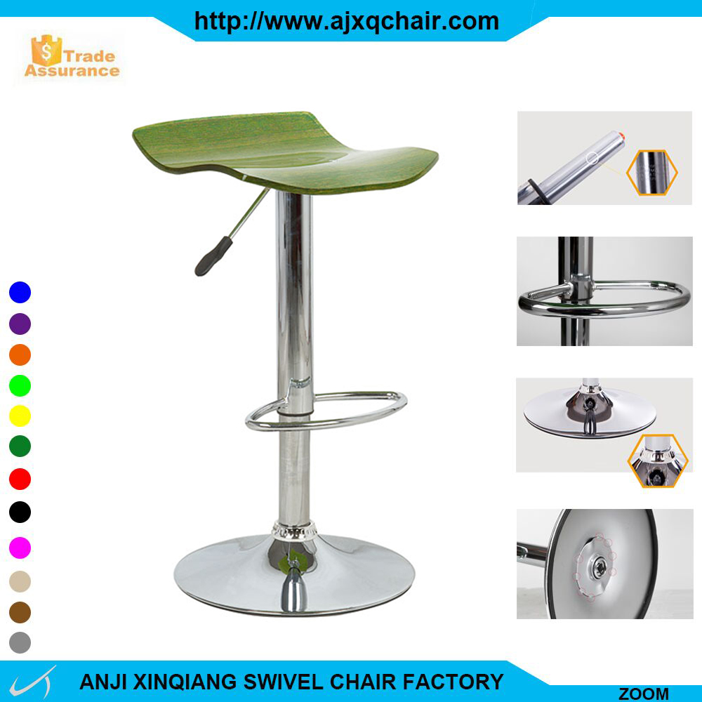 XQ-909 2016 Modern Style Clear High Quality Cheap Price Plastic Counter Bar Stools With Footrest