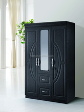 3 door mdf wardrobe with two drawers for home furniture