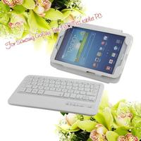 PU leather case with ABS Bluetooth keyboard,Protective Stand Case Cover Wireless Bluetooth Keyboard for samsung galaxy note 10.1