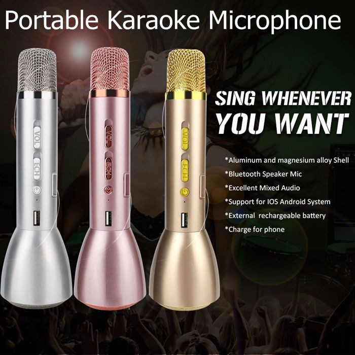 New KTV-K088 Mini Magic Wireless Karaoke Player Microphone Bluetooth Speaker Mic