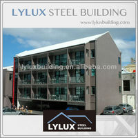 Luxury hotel steel frame prefab motel & prefabricated hotel