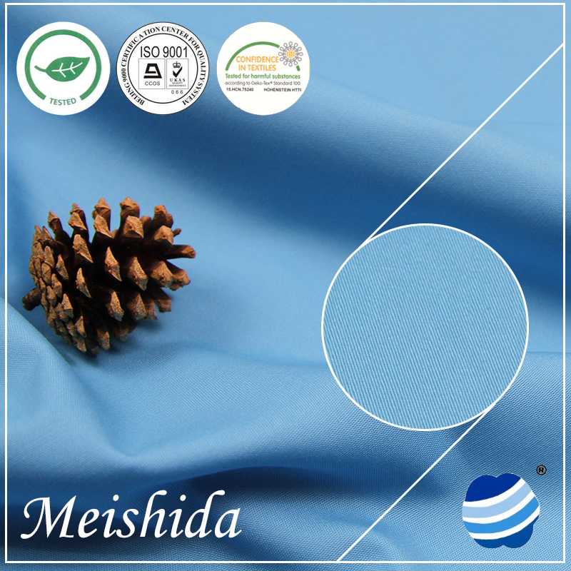 MEISHIDA 100% cotton solid dyeing fabric 21*21/110*60 twill clothing
