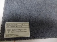 100% cotton 405gsm twill 3/1 flame retardant fabric