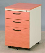 Dazzy Life_ Office furniture storage cabinets, steel wood cabinet with 3 drawers