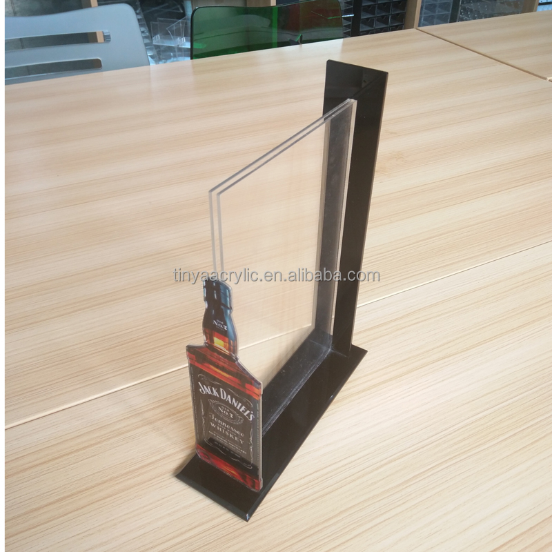 Factory Direct Cheap Sale Plastic Clear Restaurant Table Menu Holder Plastic Acrylic Menu Card Holder