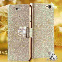 Luxury Shiny Diamond Full PU Leather Case For Apple Iphone 5 5s Cover With Safe Buckle Cell Phone Bling Case For Iphone5