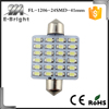 Cool White 41MM 1206 24SMD Led Festoon Dome Light For Car Auto Led Reading Light 12V