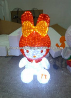 strawberry rabbit night lamp for christmas decoration