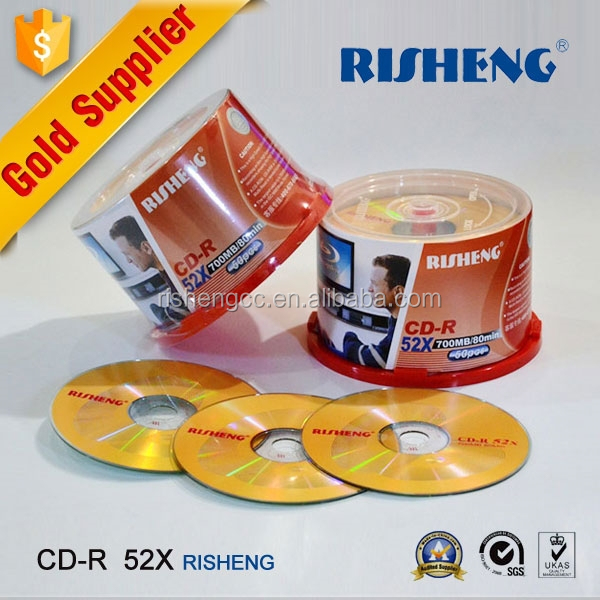RISHENG blank vinyl CD-R 52X color cd r hard disk with printing wholesale