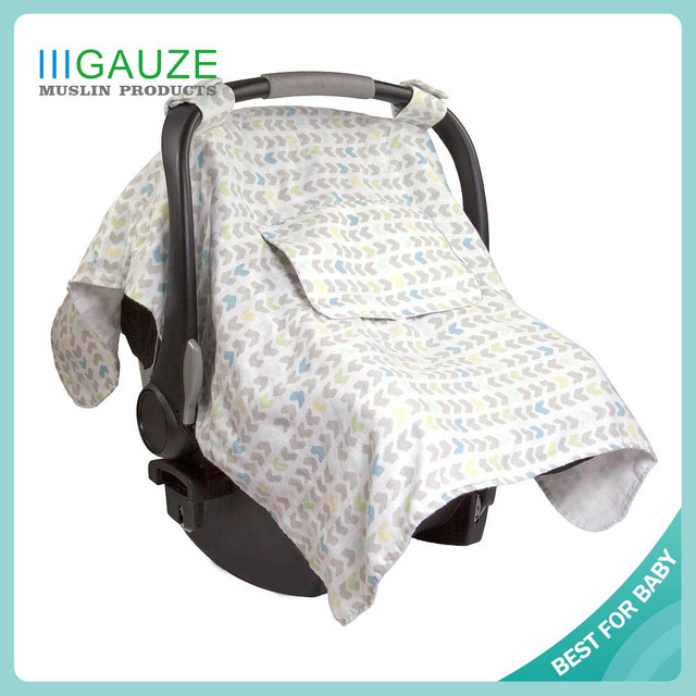 A223 amazon hot selling plain printed thin natural cheap infant bamboo fibre car seat covers