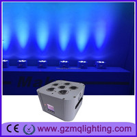 led light led battery uplights 6x18W RGBWA UV 6in1 led uplight blue sky effect magic oar light