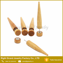 Fashion Ear Body Jewelry Organic Natural Wooden Expander Fake Taper