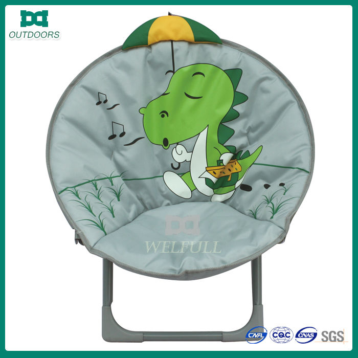 Folding small size kid half moon chair