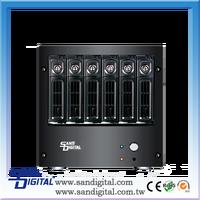 Sans Digital AccuNAS AN6L+B 64bit iSCSI and Windows/MAC/Linux Files Shared Dual GB NAS Storage