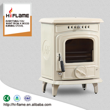 HiFlame, China supplier direct Cast Iron enamel Wood Stove HF217E Ivory