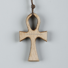 Good Promotion Gift olive wood cross necklace pendant