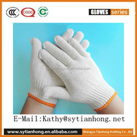 Warm in winter ladies white cotton gloves