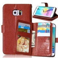 For Samsung Galaxy Note 5 9 Cards Slot Photo frame PU Leather Wallet Case 2 in 1 Magnetic Detachable Back Cover Flip Phone Cases