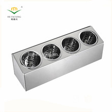 Low MOQ Stainless Steel Restaurant Cutlery Holder for Hospitality Supply
