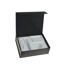 Custom packaging cardboard white plastic tray paper gift box with magnetic