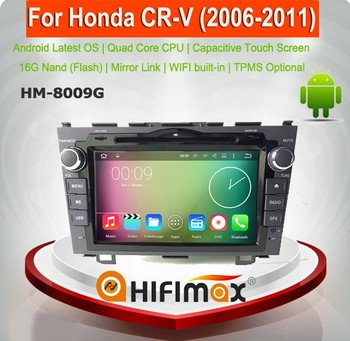 HIFIMAX Android 7.1 Car Radio DVD Player For Honda CRV 2007 (2006-2011) GPS Navi Multimedia Capacitive With Bluetooth Wifi