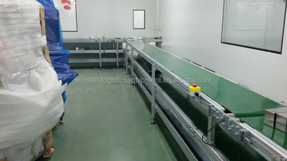 Doule layer belt conveyor line 90 degree curved belt conveyor line TYPE80