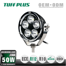 "High Intensity 4"" 50W 12V Round led driving light ,led driving light for truck offroad mining forest car bottom or side mounting"