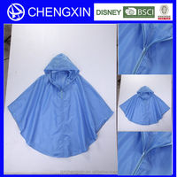 adult poncho beach towel,long pvc rain poncho with zip