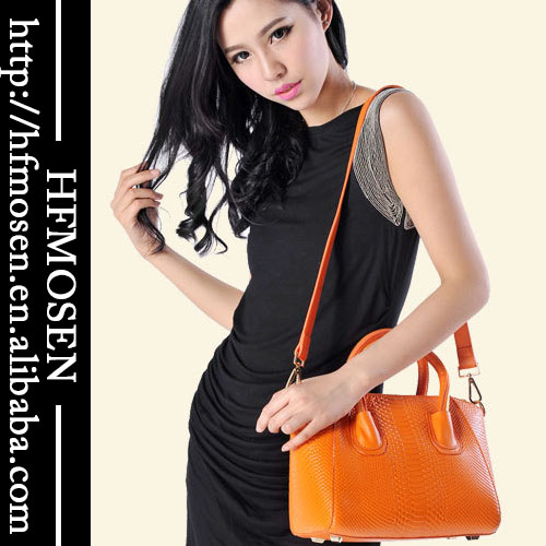 B6070 Wholesale Ladies leather handbags snake skin women's shoulder Korean handbag women
