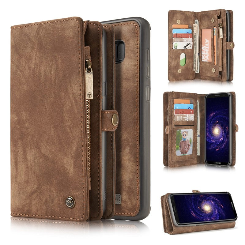 Wholesale Case me Leather Protective Case for Samsung S8 inside TPU case Detachable