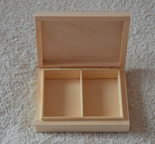 Unfinished wooden box for cards