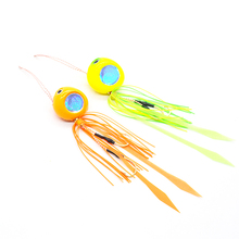 80g 100g Chrome Foil Jig Lead Head With Rubber Skirts