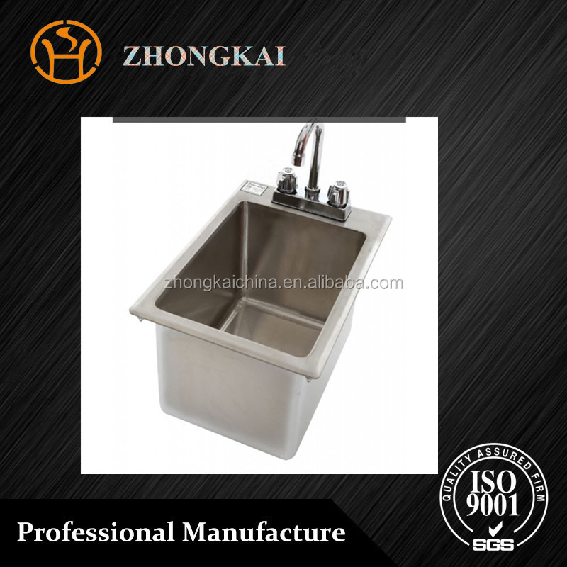 Industrial Single Bowls Stainless Steel Hand Made Kitchen Wash Basin