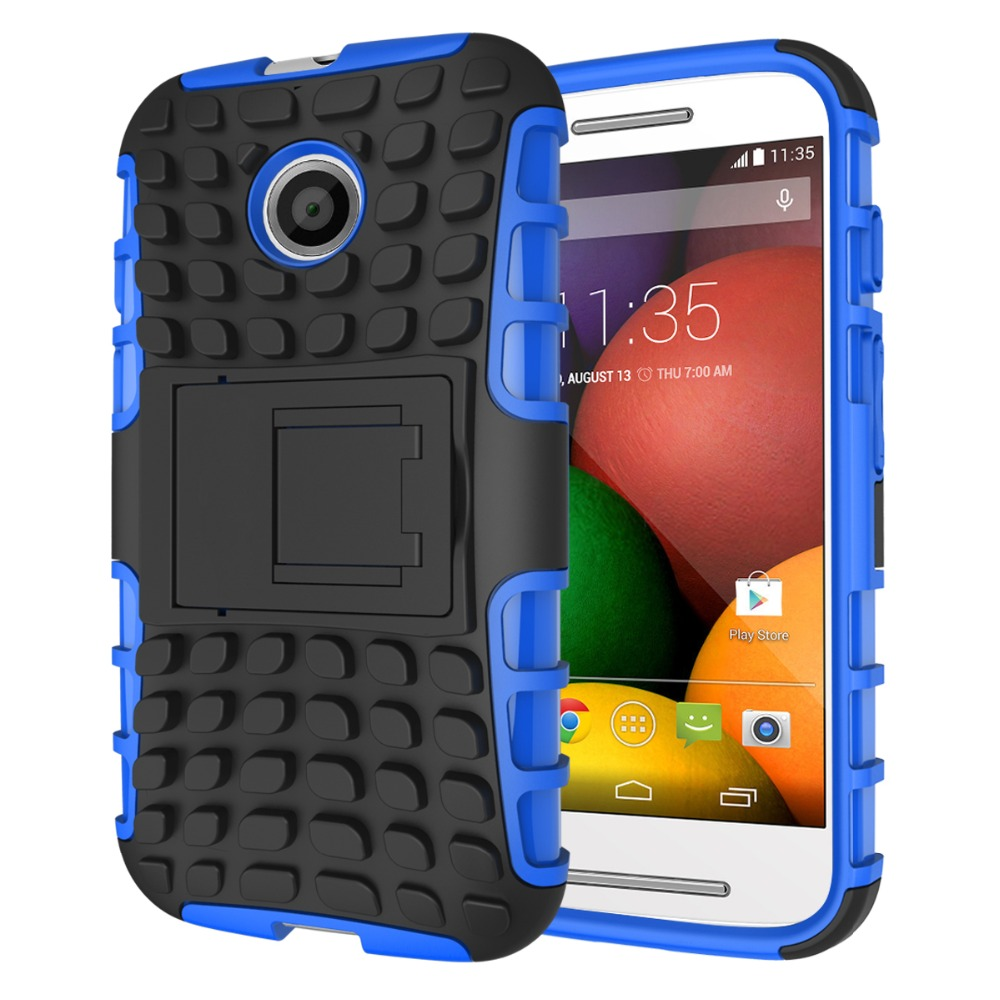Mobile Accessories Tough Rugged PC TPU Armor Kickstand Hybrid Case For Moto E