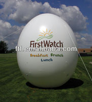 egg shape advertising inflatable cold air balloon
