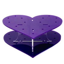 Detachable Heart Shaped Acrylic Cake Pop Holder, Lollipop Stand Display with 15 holes