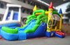 crayon inflatable bouncer with water slide, inflatable bouncer combo