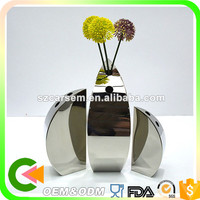 Wholesale stainless steel silver plated flower vase