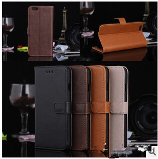 Cheapest cross pattern Pu leather flip case for iPhone 6 4.7 inch