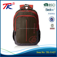 Promotional price brown 30L capacity fabric light weight school backpack brands for school