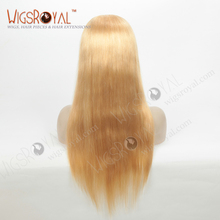 Top quality unprocessed European virgin blonde silk base glueless full lace wigs