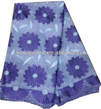 blue knitted voile lace