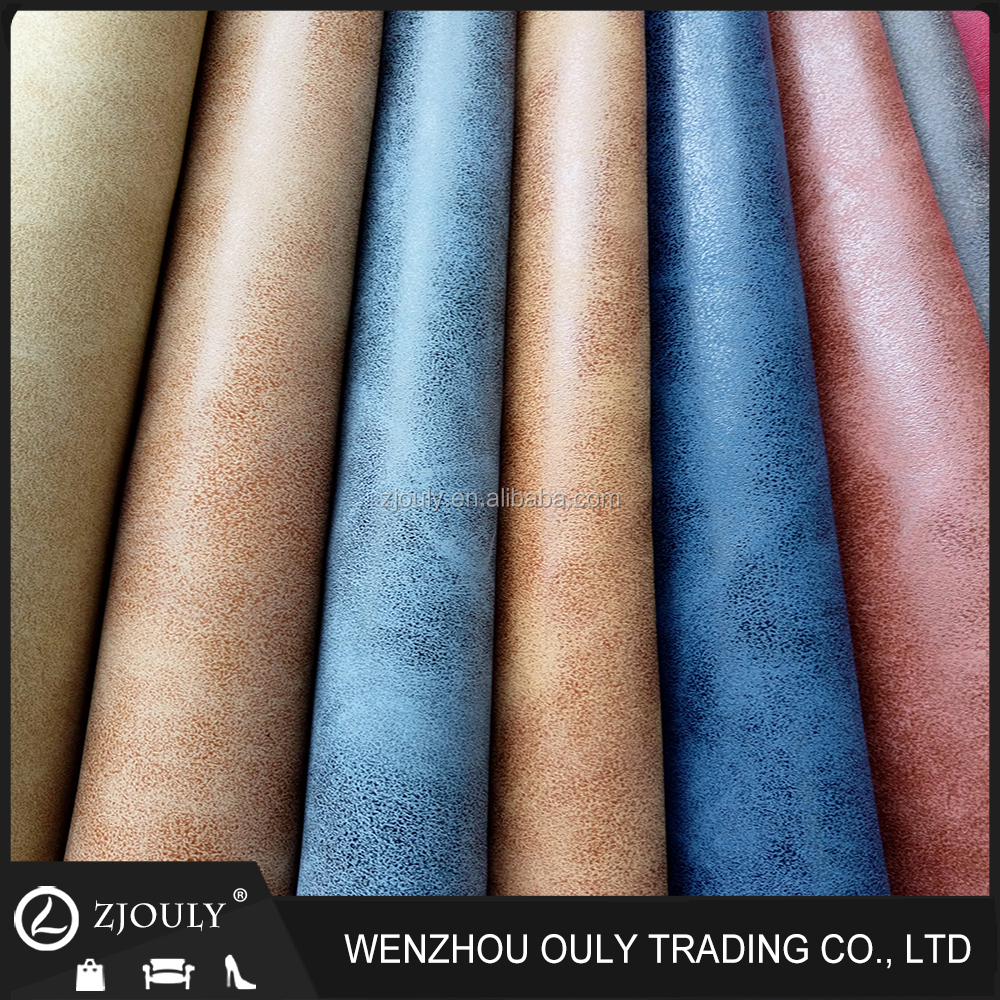 Two Tones New Yangba Pu Synthetic Leather for Shoes Material