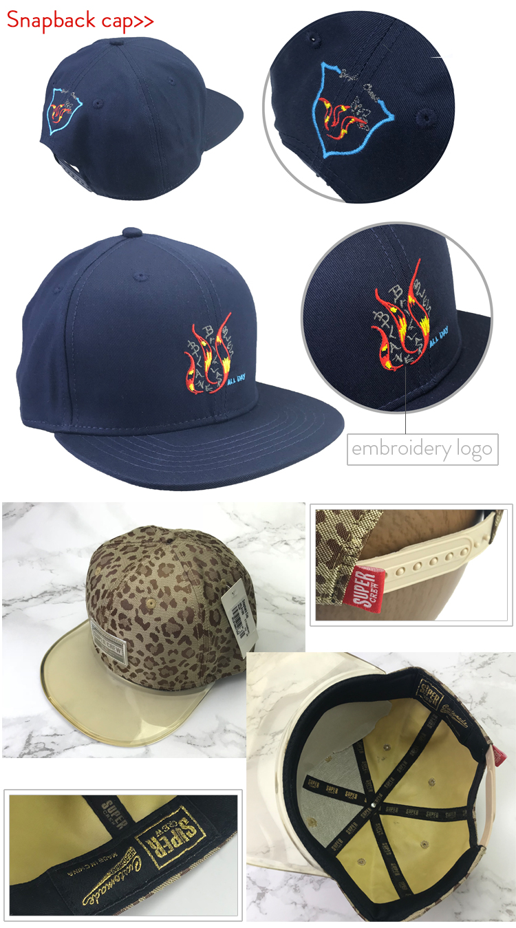 Leopard Print Custom Hat Embroidered Brushed Cotton Sports cap Dad Hat