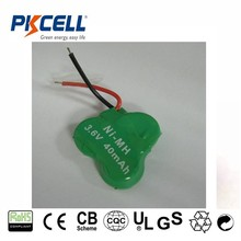 1.2v / 2.4v /3.6v industrial battery pack b20h/ 30h/ 40h/ 80h/ 110h/ 160h rechargeable nimh button cell