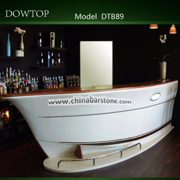Boat Shaped Atificial Stone Bar Furniture